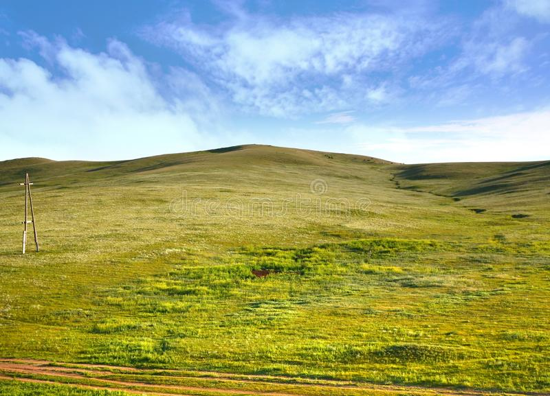 A view from the Trans-Siberian train at Ulaanbaatar , Mongolia stock photography