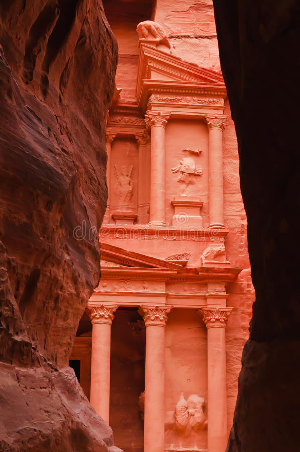 Download View Of Treasury From The Siq, Petra Stock Photo - Image of bedouin, johann: 17745302