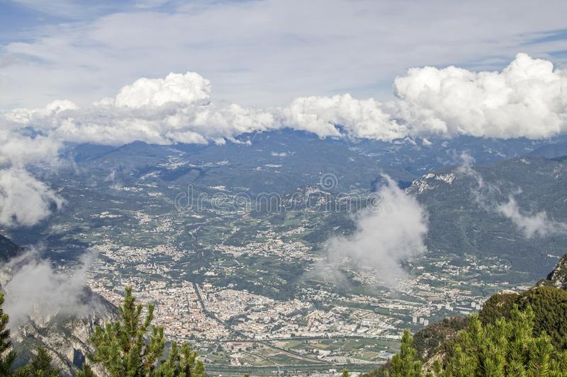 View on Trento in Northern Italy stock photo
