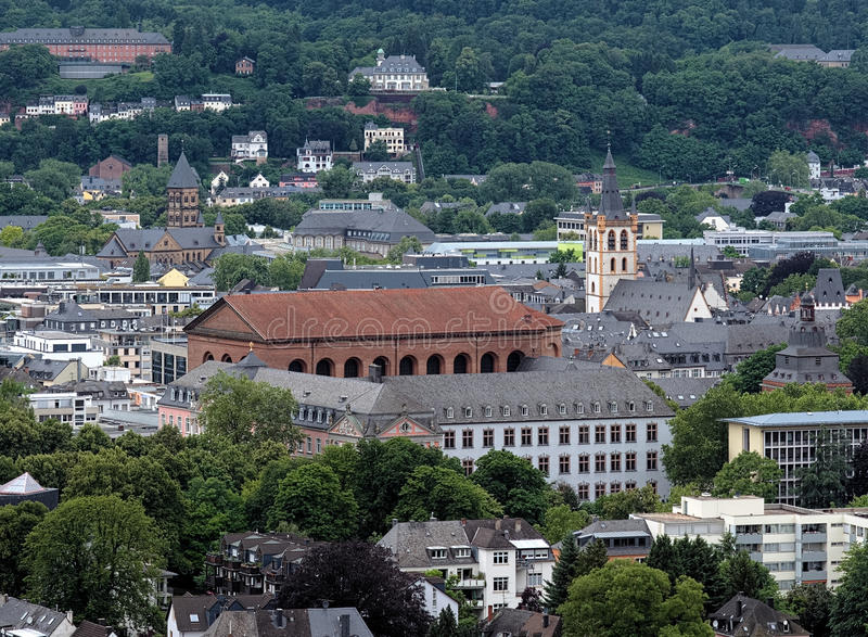View On Trier With Basilica Of Constantine Stock Photos