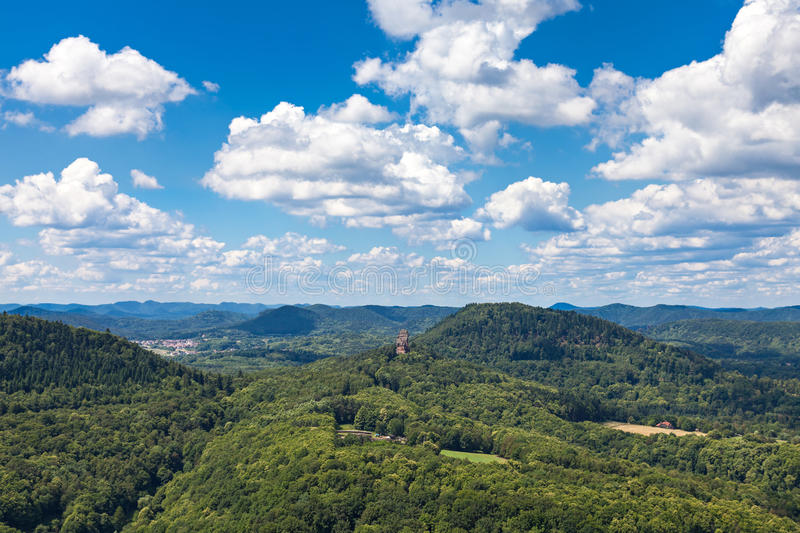 Download View from Trifels stock photo. Image of famous, green - 41592382