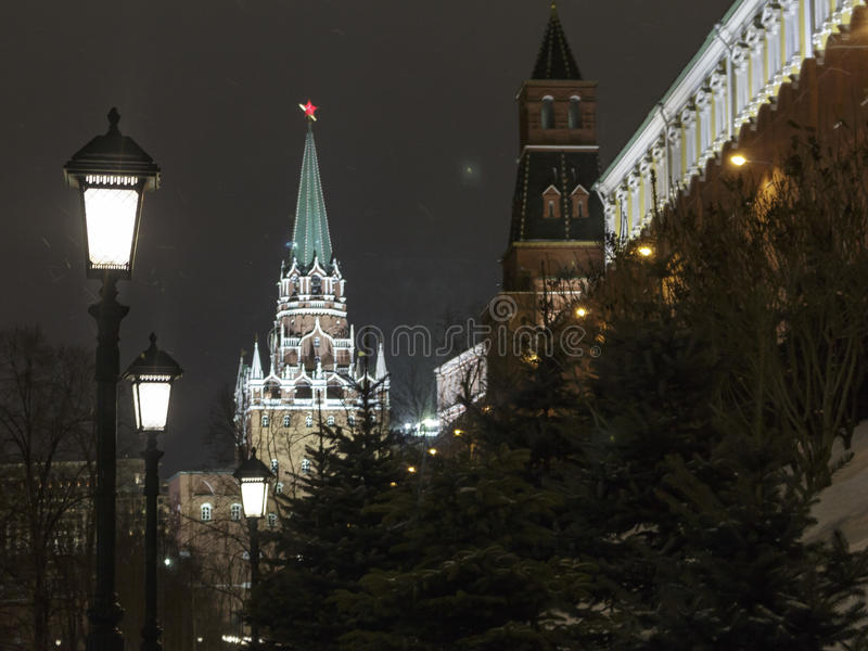 View of the Troitskaya tower royalty free stock photography