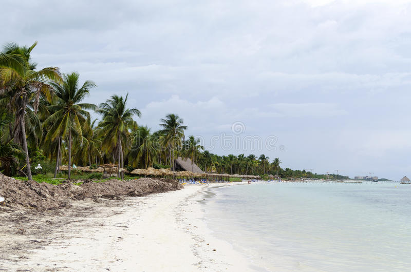 View of tropical beach in Cayo Guillermo stock photography