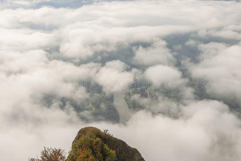 View from Trzy Korony peak - Pieniny, Poland. View from Trzy Korony peak - Pieniny, Poland, Europe stock photo