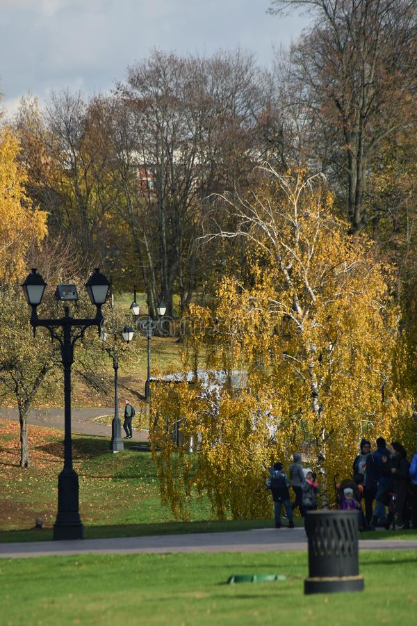 View of Tsaritsyno park in Moscow, Russia. stock photos