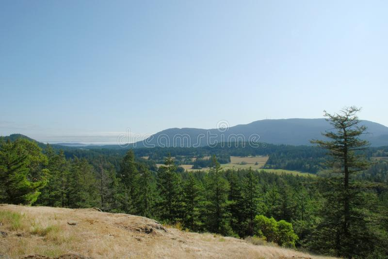 View from Turtleback Trail on Orcas Island royalty free stock photo