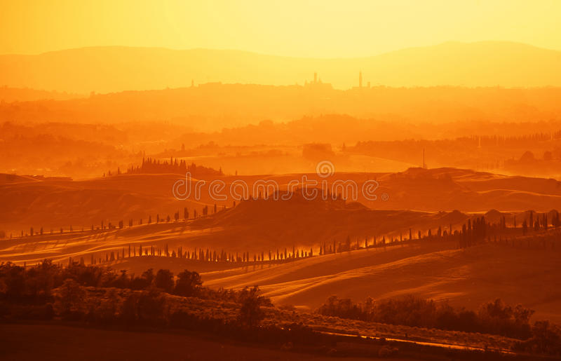 Download View on Tuscan Hills stock photo. Image of mornig, landscape - 25543950