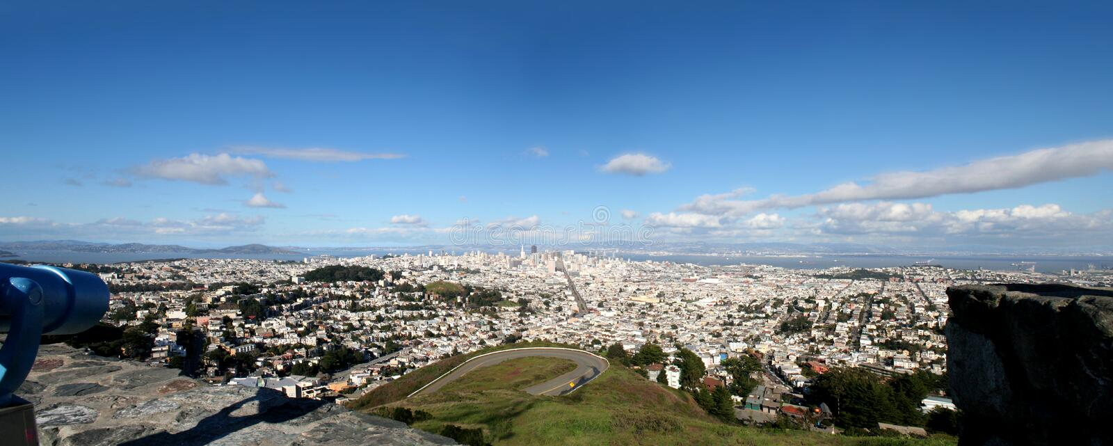 Download View from Twin Peaks stock photo. Image of twin, house - 22348080