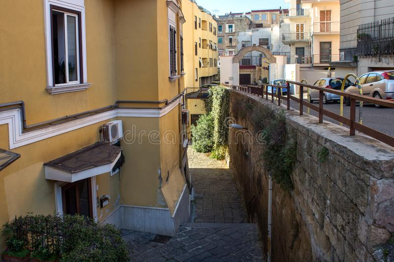 View of a typical residential buildings in Italy. View of a typical residential buildings in southern Italy royalty free stock image