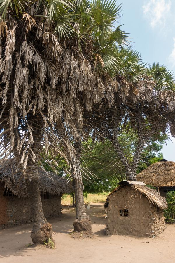 African village scenery in Ngao village royalty free stock photos