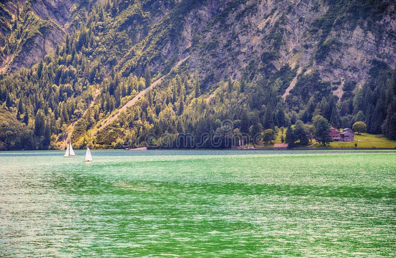 View of Tyrol lake Achensee, Austria stock images