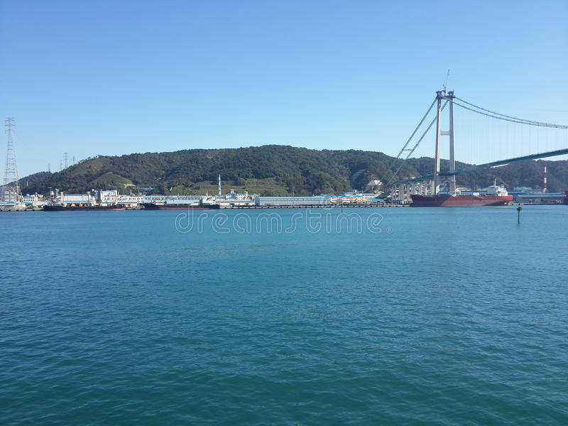 A view at ulsan port royalty free stock photos
