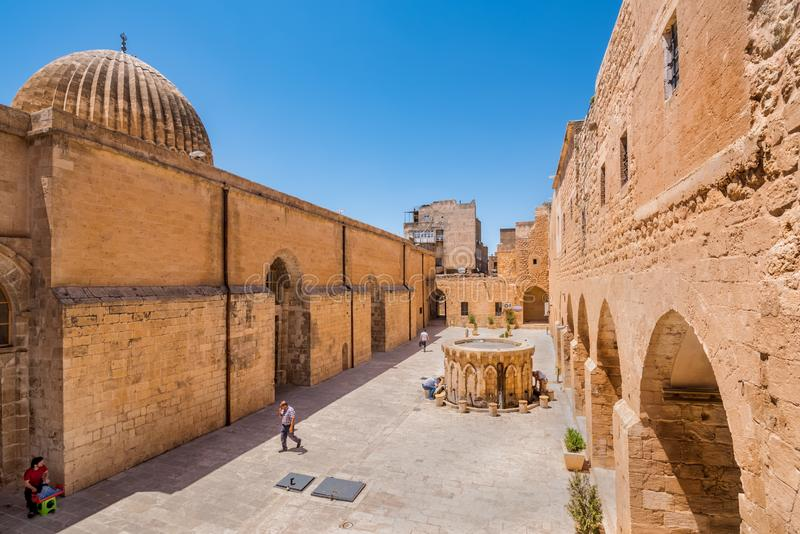 View of Ulu(Grand) Mosque in Mardin, Turkey stock photos