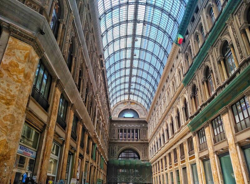 View of Umberto's Gallery, Naples royalty free stock photos