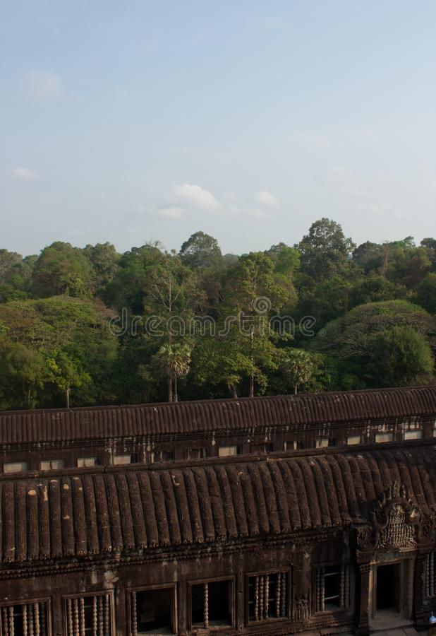 A view from the UNESCO Angkor Temple Siem Reap in Cambodia royalty free stock photo