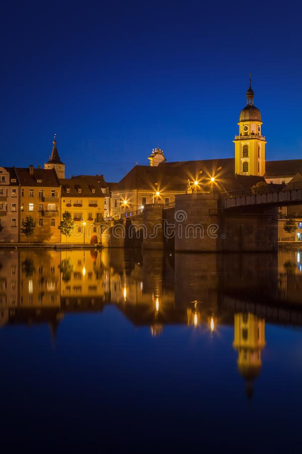 Free View Upon The Waterfront Of Kitzingen Royalty Free Stock Photo - 129633255
