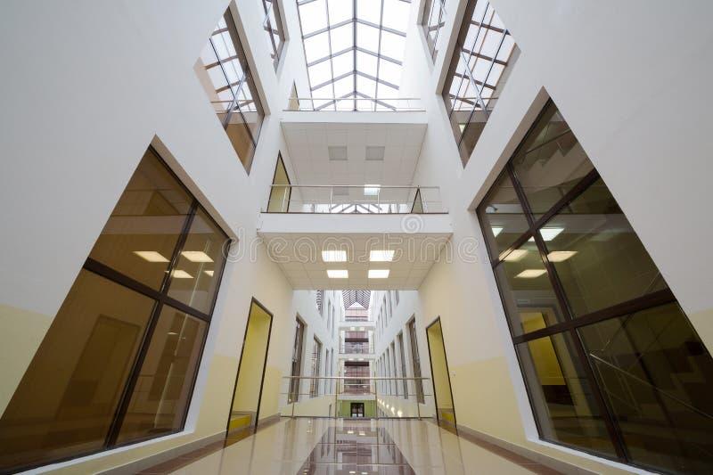 View of the upper floors of modern beautiful Business Center Smirnovsky stock image