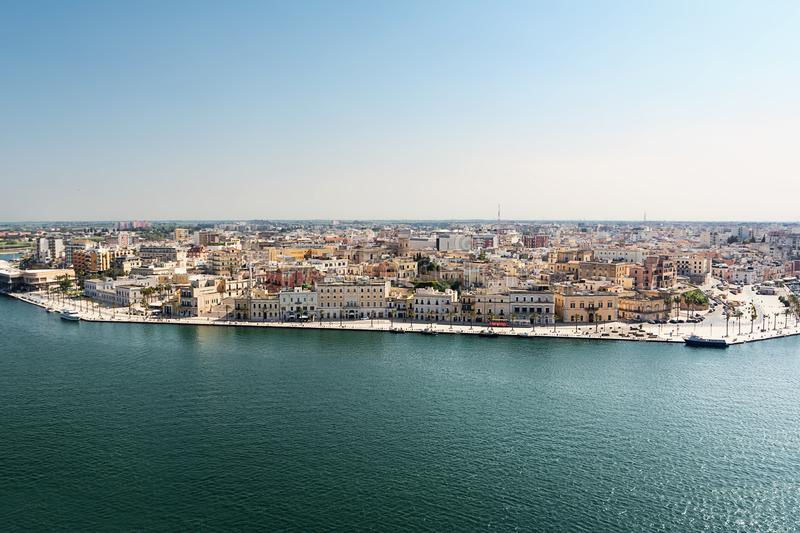 View of the upper part of the historic center of Brindisi Italy. A View of the upper part of the historic center of Brindisi Italy stock photography