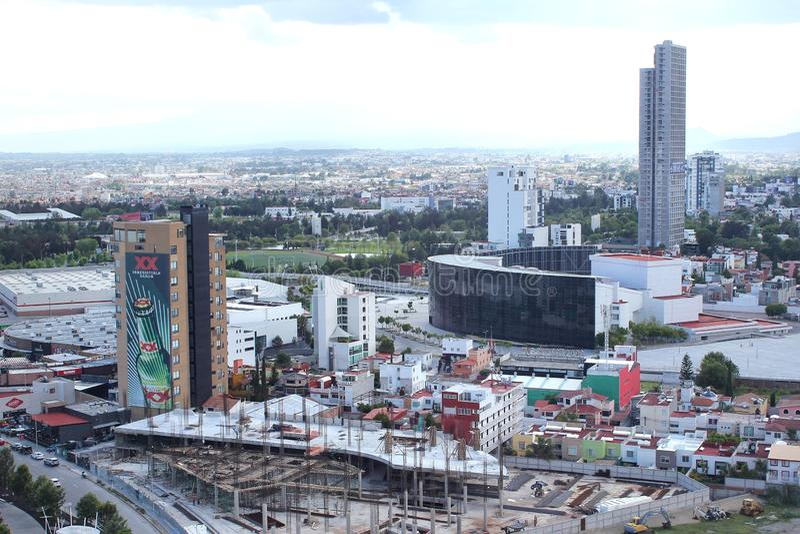 Puebla, Mexico Urban Sprawl royalty free stock image
