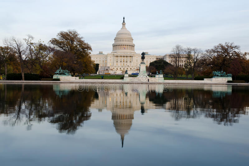 Download View on US Capitol at dusk stock image. Image of capitol - 27724749