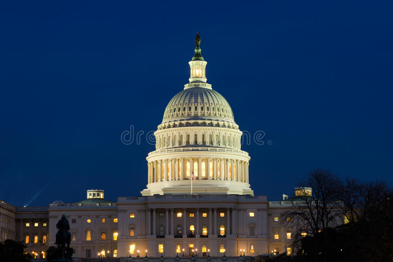 Download View On US Capitol At Dusk Royalty Free Stock Photos - Image: 27724838