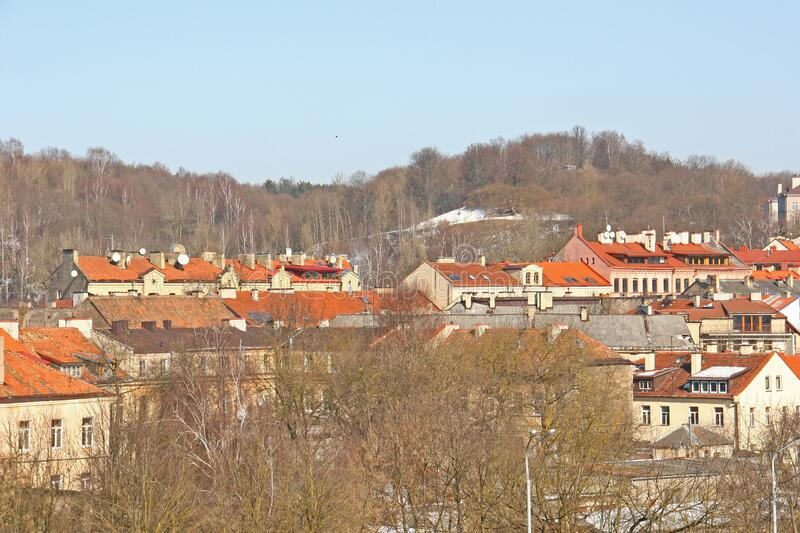 View of Uzupis from above royalty free stock photos