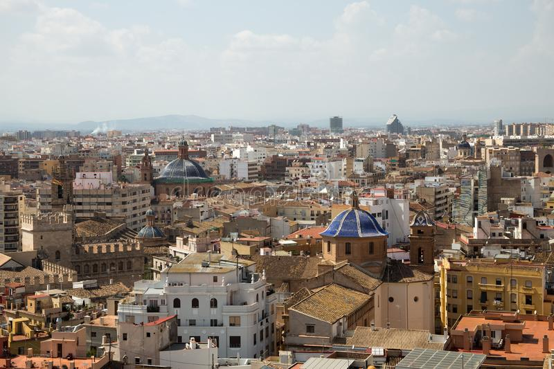 View of Valencia city from the Cathedral royalty free stock photos