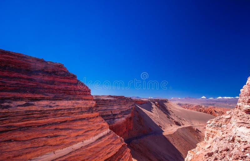 Valle de la muerte by San Pedro de Atacama in Chile. View on Valle de la muerte by San Pedro de Atacama in Chile royalty free stock photo