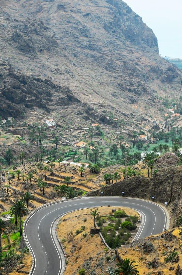 View of Valle Gran Rey La Gomera royalty free stock photos