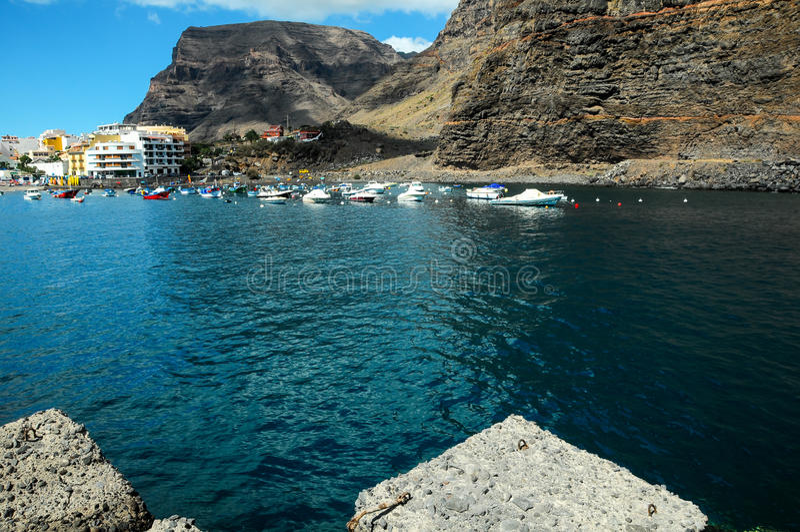 View of Valle Gran Rey La Gomera royalty free stock image