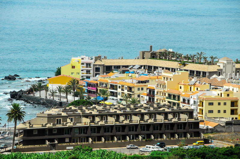 View of Valle Gran Rey La Gomera. Canary Islands Spain stock photo