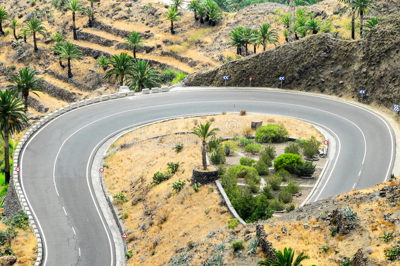 View of Valle Gran Rey La Gomera royalty free stock photo