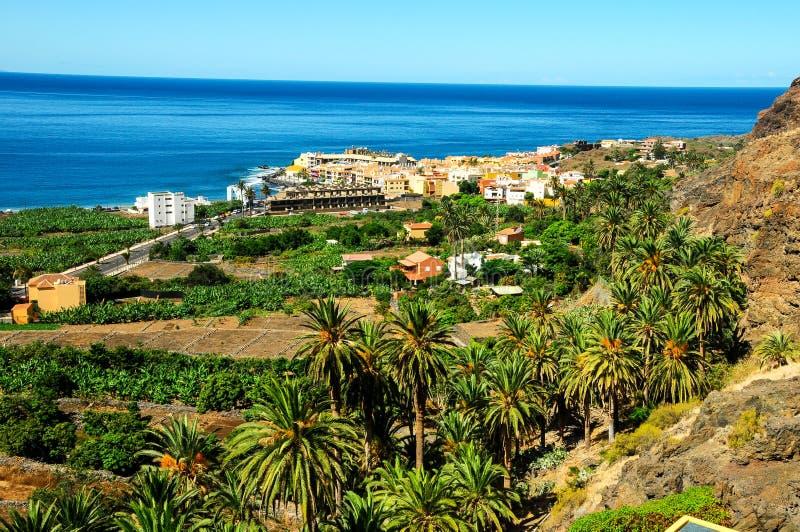 View of Valle Gran Rey La Gomera royalty free stock images