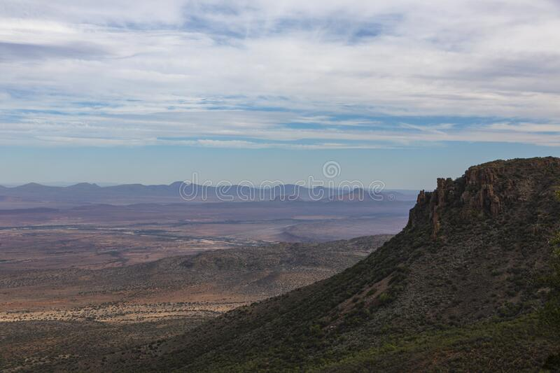 View of Valley of Desolation in the Karoo. South Africa stock photography