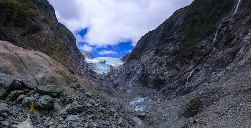 Franz Josef Glacier in New Zealand stock photos