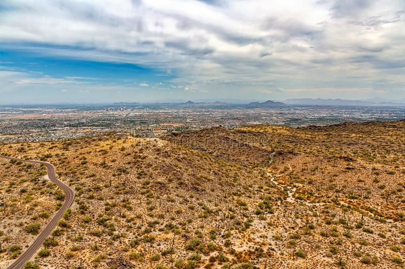 View of the valley from South Mountain stock photos