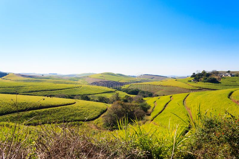 A view of the Valley of a Thousand hills near Durban, South Africa royalty free stock photo