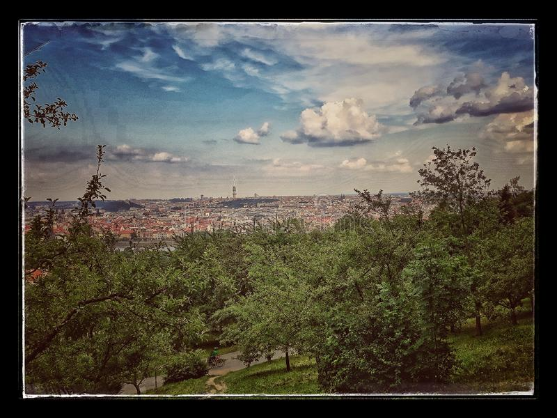 view of the valley while walking through Prague royalty free stock photo