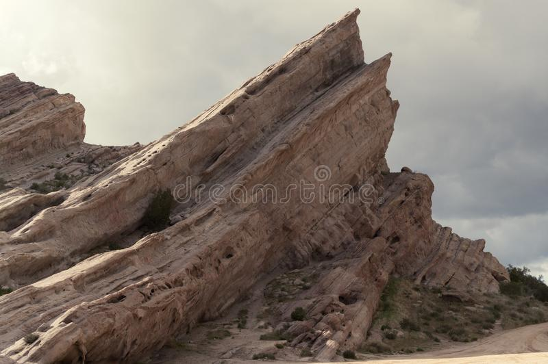 A view of Vasquez Rocks Natural Area Park in California. royalty free stock photo