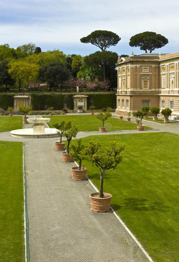 View At The Vatican Gardens Stock Photography
