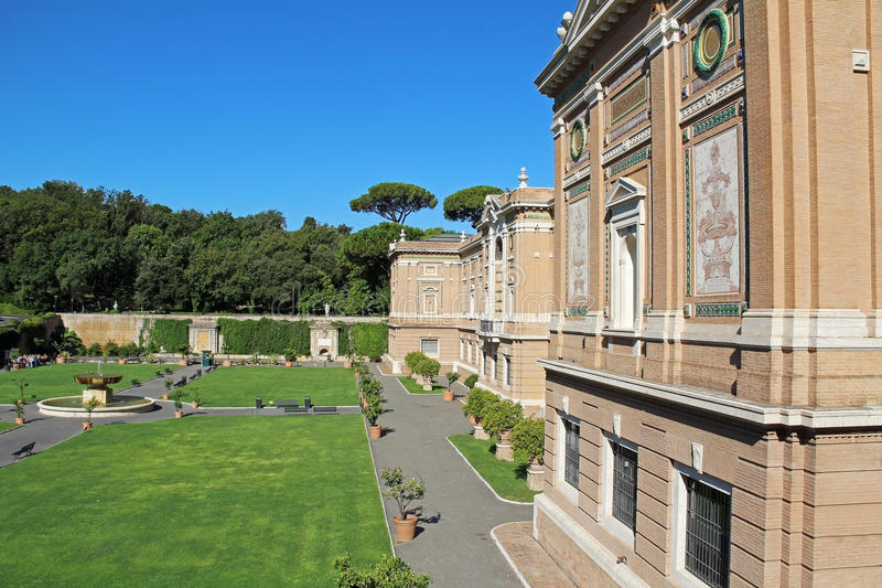 View of the Vatican museum garden. Rome, Italy, Europe.  stock image
