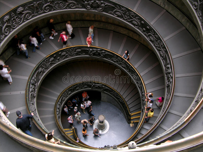 View of Vatican spiral stears stock image