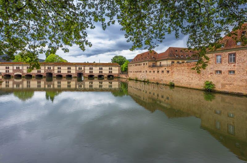 Vauban Barrage. View on Vauban Barrage. Strasbourg, France stock photo