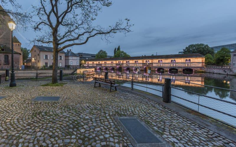 Vauban Barrage. View on Vauban Barrage. Strasbourg, France royalty free stock photo