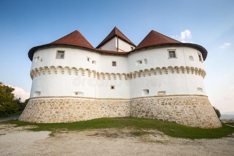 Veliki Tabor castle in Zagorje. A view of the Veliki Tabor fortress in Zagorje, Croatia stock photo