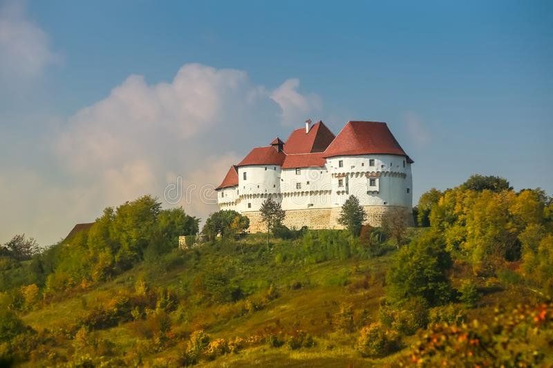 Veliki Tabor castle in Zagorje. A view of the Veliki Tabor fortress in Zagorje, Croatia royalty free stock photography