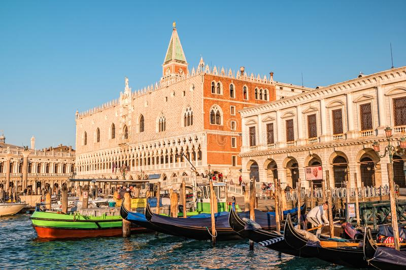 The view of venetian lagoon in morning royalty free stock images