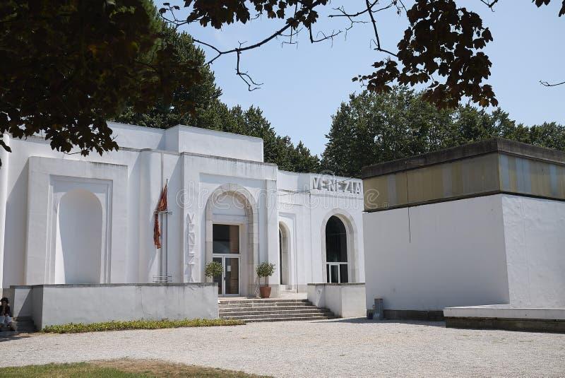 View of Venezia Pavillon. Venice, Italy - July 02, 2019 :  View of Venice Biennale Venezia Pavillon stock photos