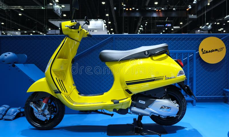 View of a Vespa S at Motor Expo 2019 royalty free stock photos