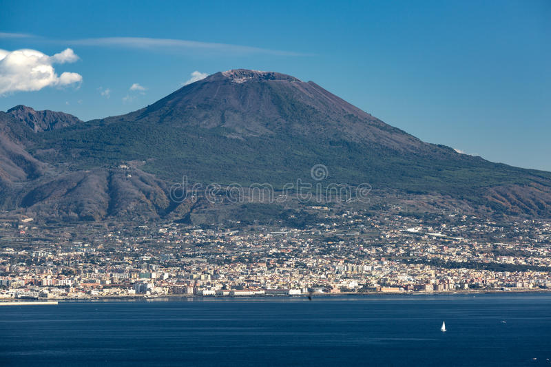 View of the Vesuvius mountain royalty free stock images